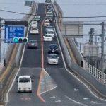 江島大橋(通称べたふみ坂)を通ってきました。