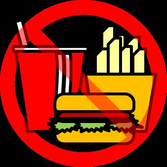 飲み物・飲食物禁止