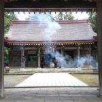 名和神社に初詣。今年バーベキュー第一号!