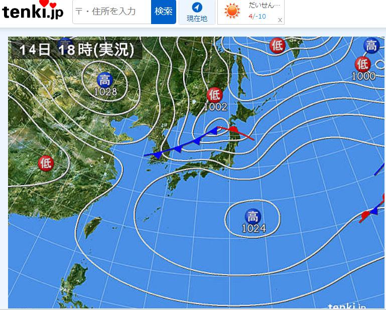 天気 図 中国