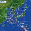 大山への台風の最接近は23日深夜頃」の予報です。※8/22 正午現在