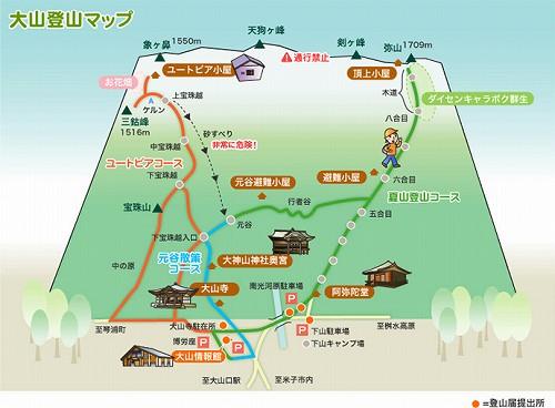大山登山マップ