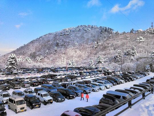 大山ホワイトリゾート駐車場