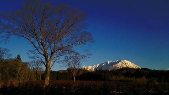 大山あけまの森ペンション村から見た大山