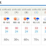 梅雨明けはまだ先のよう・・・