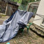 ゲリラ豪雨でテント倒壊???