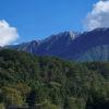 大山初冠雪の写真が撮れた!